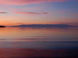 Озеро Байкал, закат